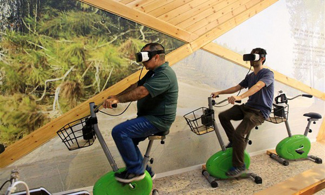 Virtual ride throug the forest